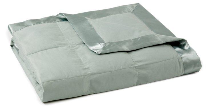 Down-Alternative Blanket, Sea Glass