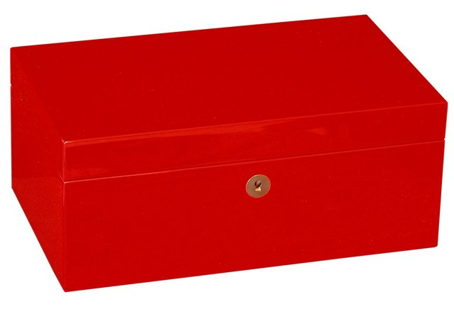 12x7 Red Lacquered Box