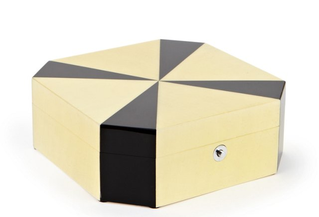 Lacquer Octagonal Jewelry Box