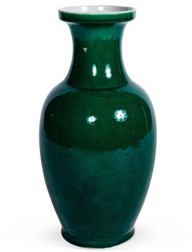 Small Porcelain Vase, Green