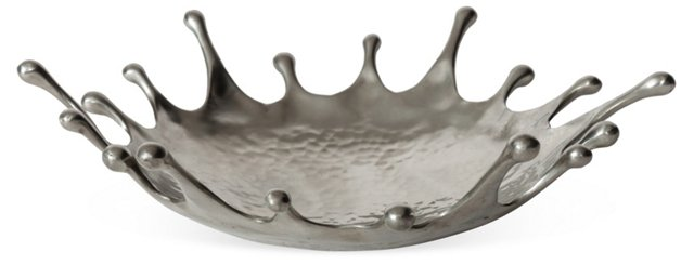 Pewter Dew Drop Bowl, Medium