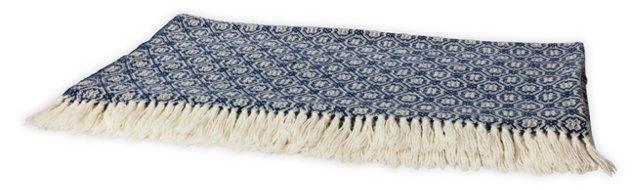 Rosecrans Navy Blue Blanket, Full