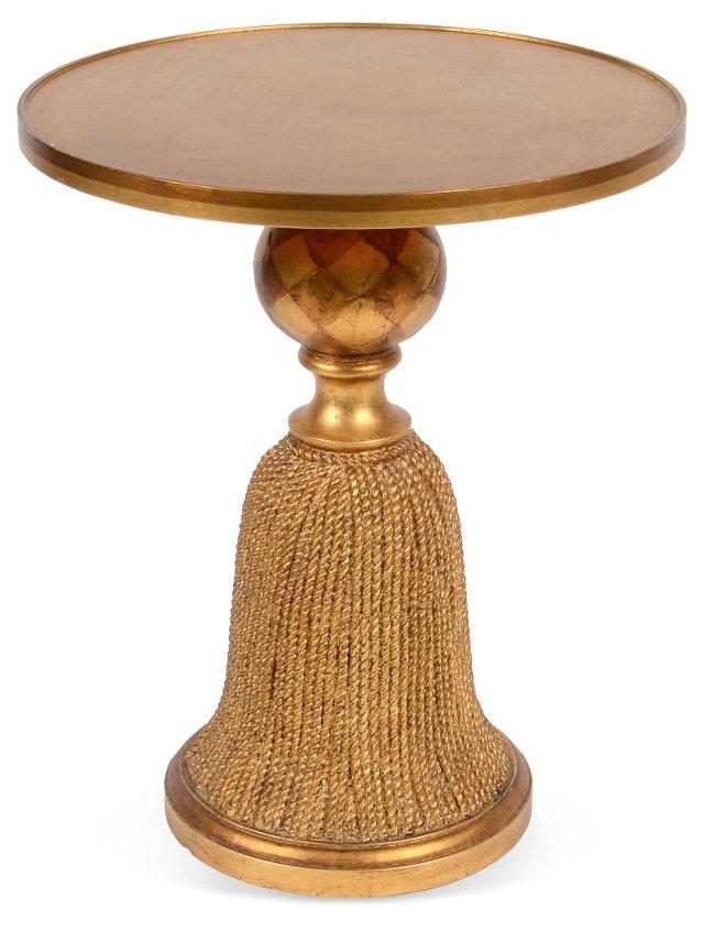 Gold-Leaf Wood Tassel Table