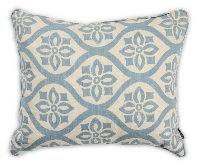 Blue & White Linen Pillow