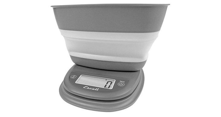Gray Digital Scale w/ Bowl, 1.5 Qt