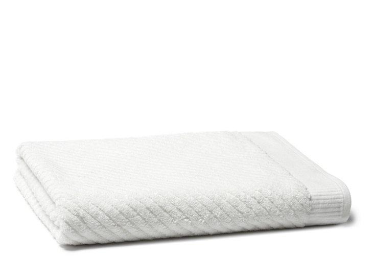 Diagonal Bath Sheet, White