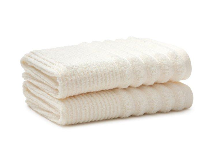S/2 Bouclé Hand Towels, Ivory