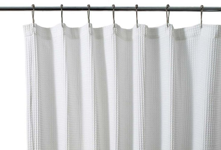 Ivana Shower Curtain, White