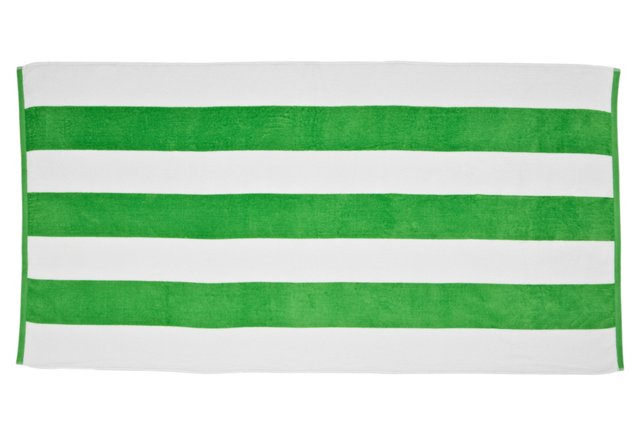 Cabana Stripe Beach Towel, Lime