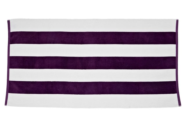 Cabana Stripe Beach Towel, Purple