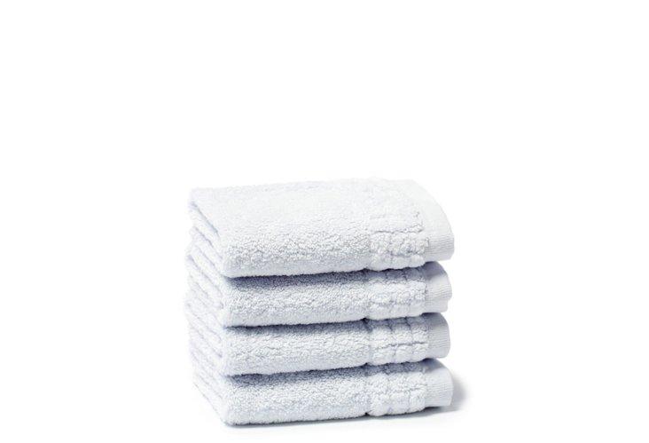 S/4  Ecstasy Washcloths, Blue