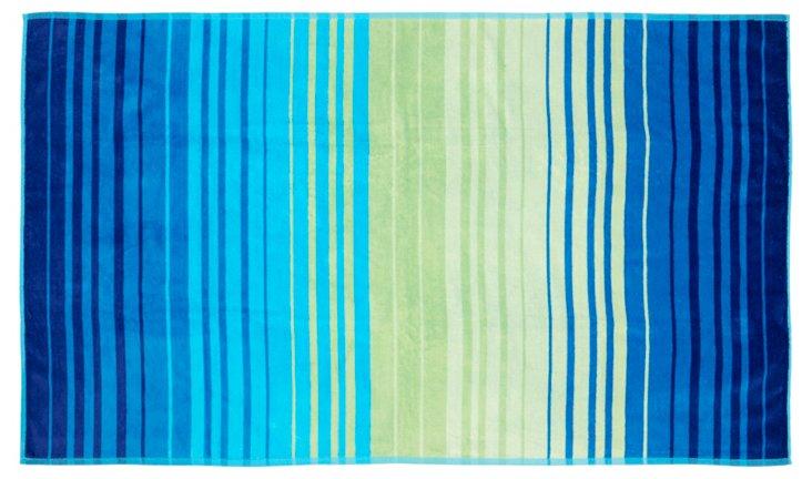 Stripe Honolulu Beach Towel, Blue