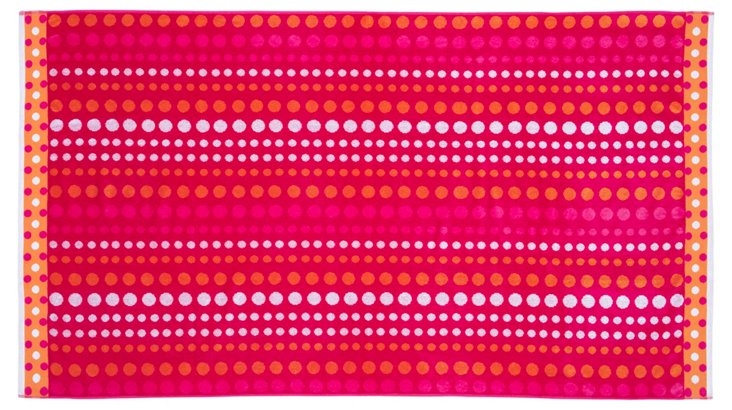 Dots Beach Towel, Pink