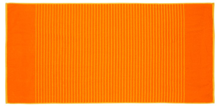 Reversible Beach Towel, Orange/Yellow