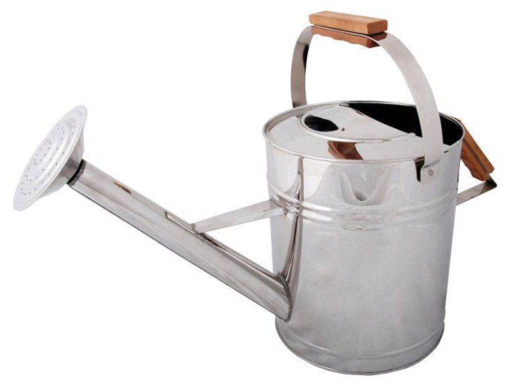 Silver Watering Can , 7.5L