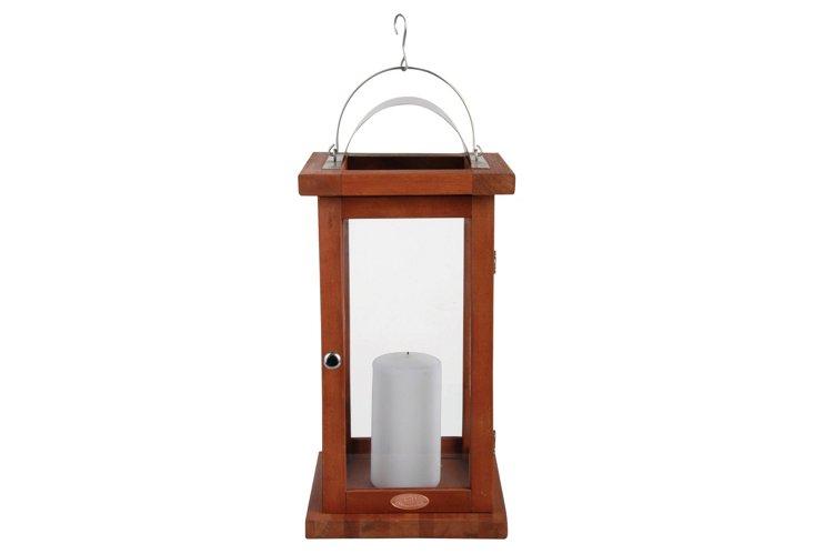 """19"""" Hardwood Lantern"""
