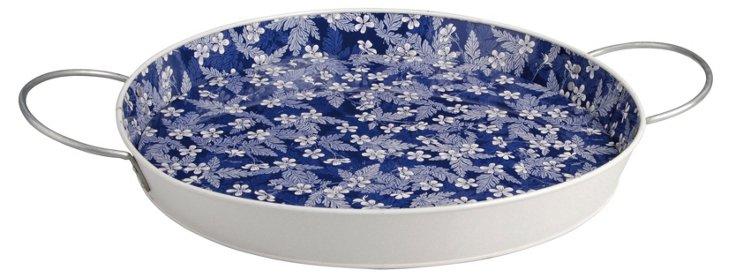 Blossom Serving Tray, Blue