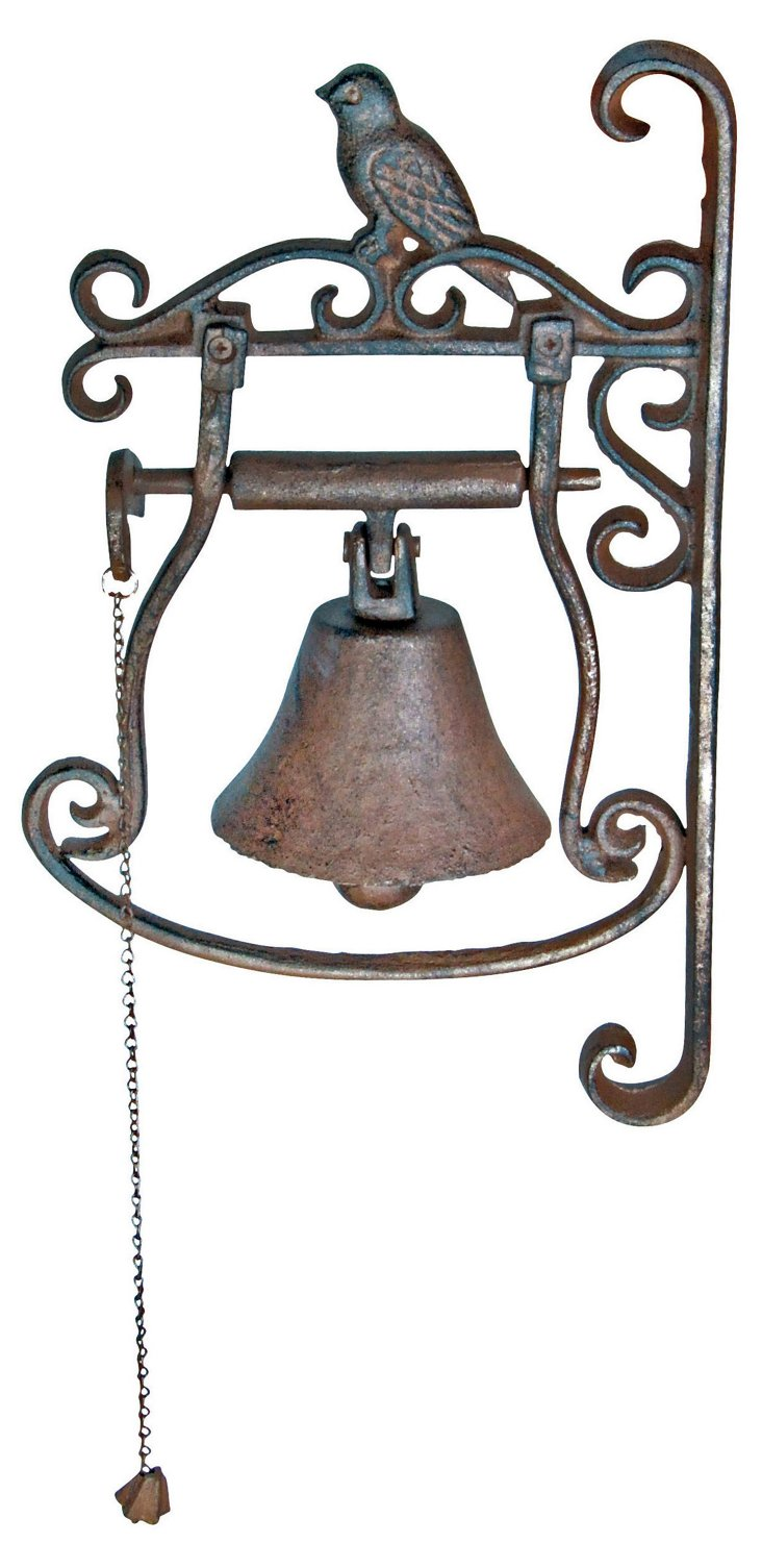 Cast-Iron Bird Doorbell