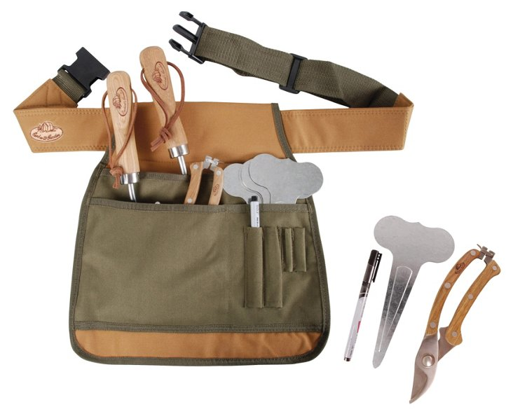 Plant Markers, Tool Belt & Pruners Set