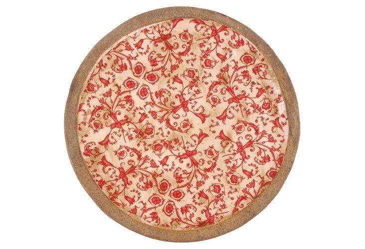 Red & White Round Dish