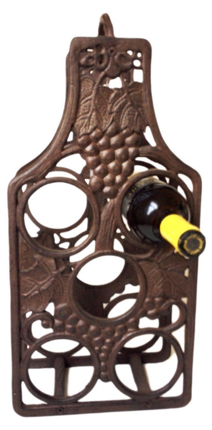 Cast Iron 5-Bottle Holder