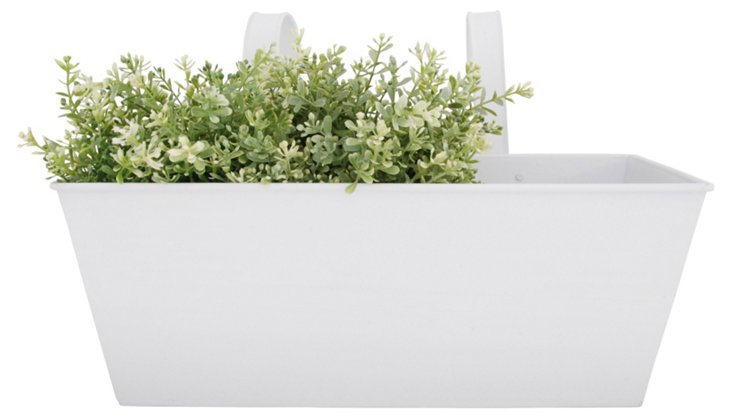 "16"" Balcony Flower Box, White"
