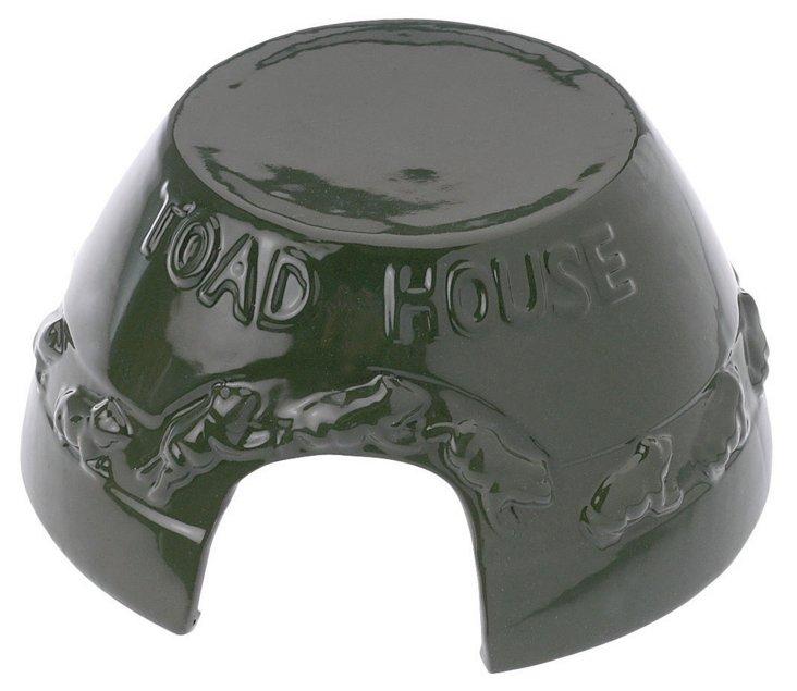 """4"""" Garden Toad House, Green"""