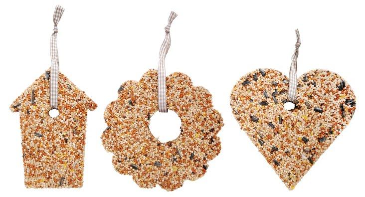 Asst. of 6 Bird Seed Ornaments