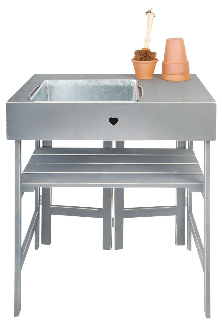 "34"" Gardening Station w/ Sink & Shelf"