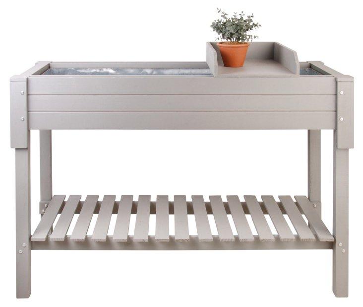"""48"""" Garden Table, Gray"""