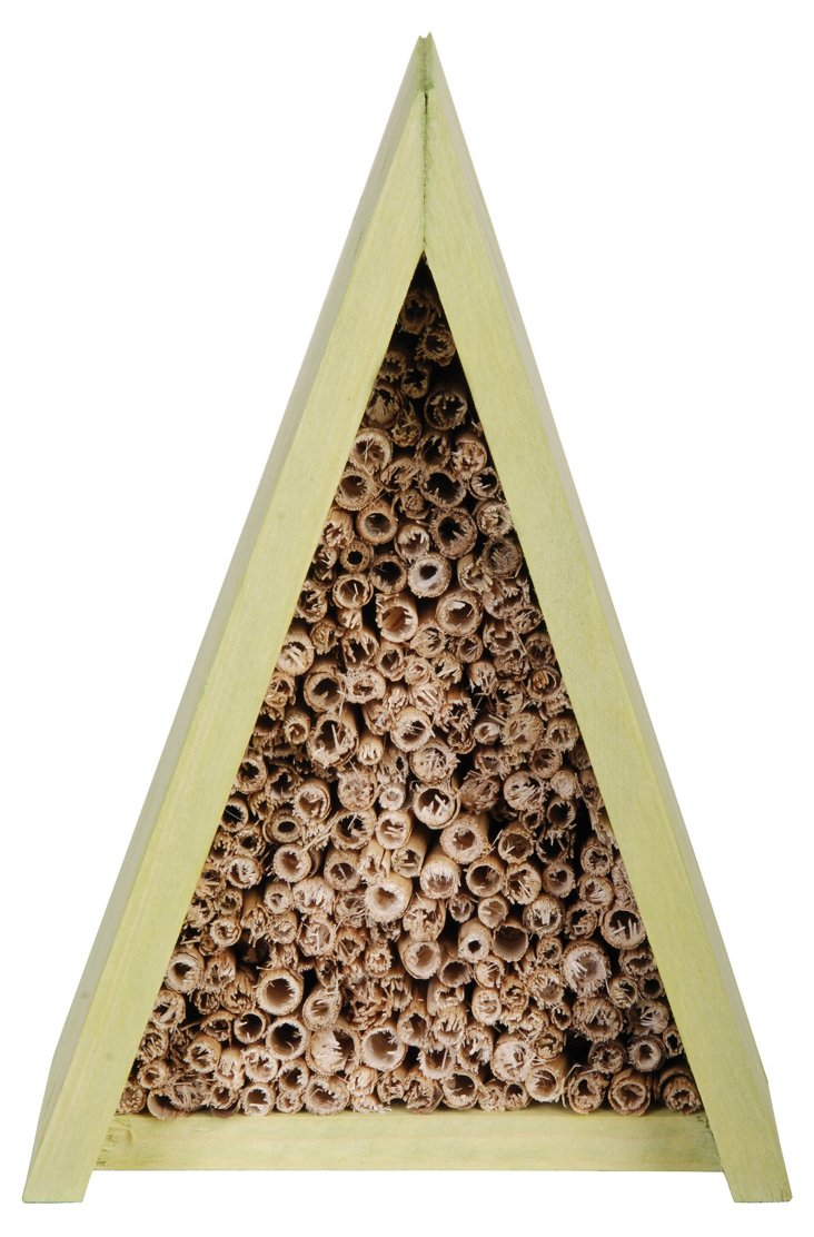 Triangle Bee House, Green/Brown