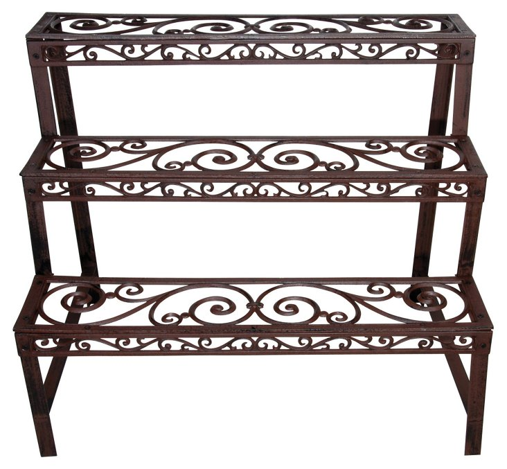 "31"" Cast Iron Étagère, Brown"
