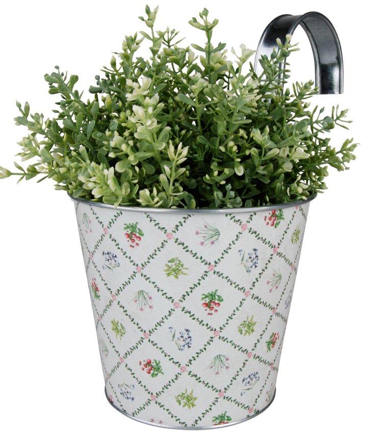 "10"" Balcony Pot, White"