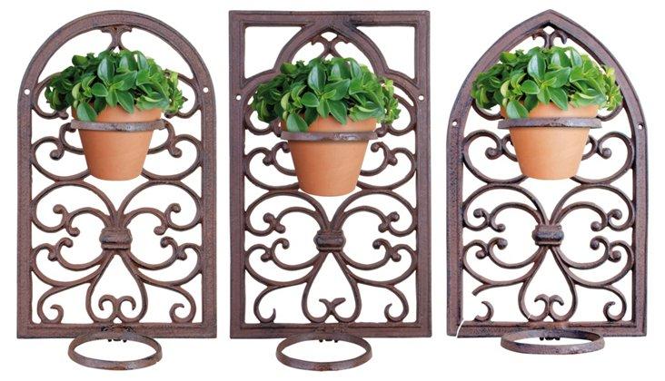 Asst. of 3 Window Frames w/ Planter Rings
