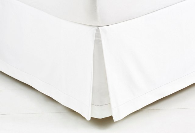 Classic Hemstitch Bed Skirt, White