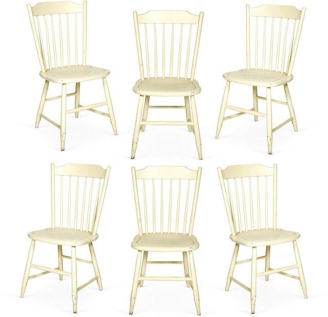 Hepplewhite Dining Chairs, Set of 6