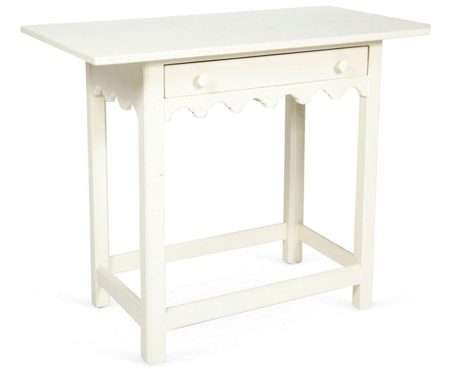 White Scalloped Table