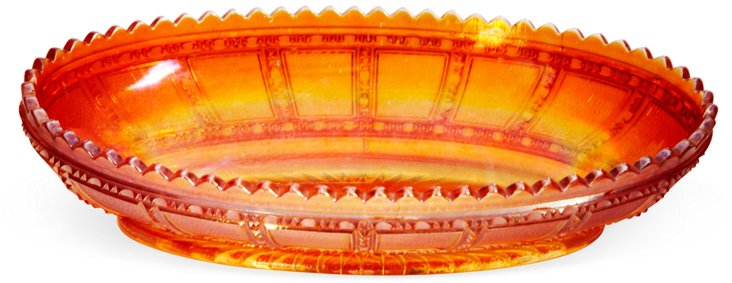 Imperial Carnival Glass Pickle Dish