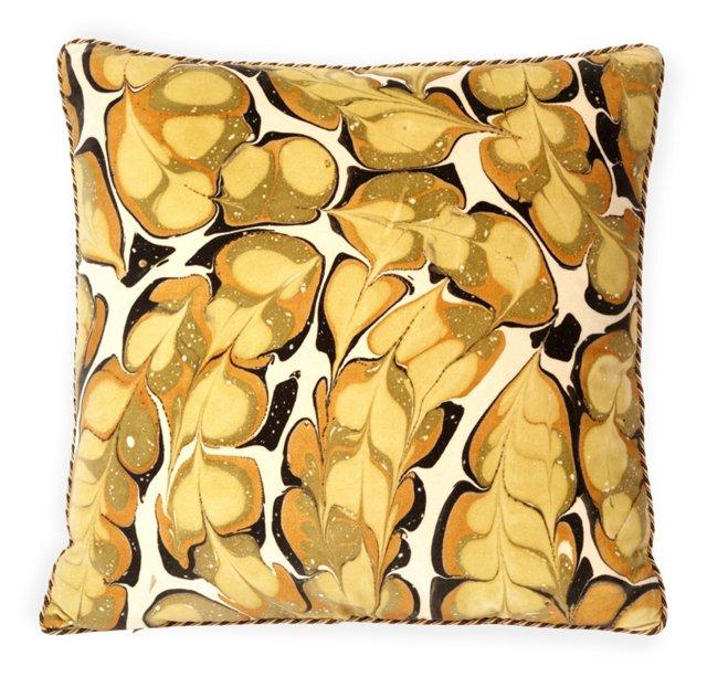 Custom Marbleized Velvet Pillow I