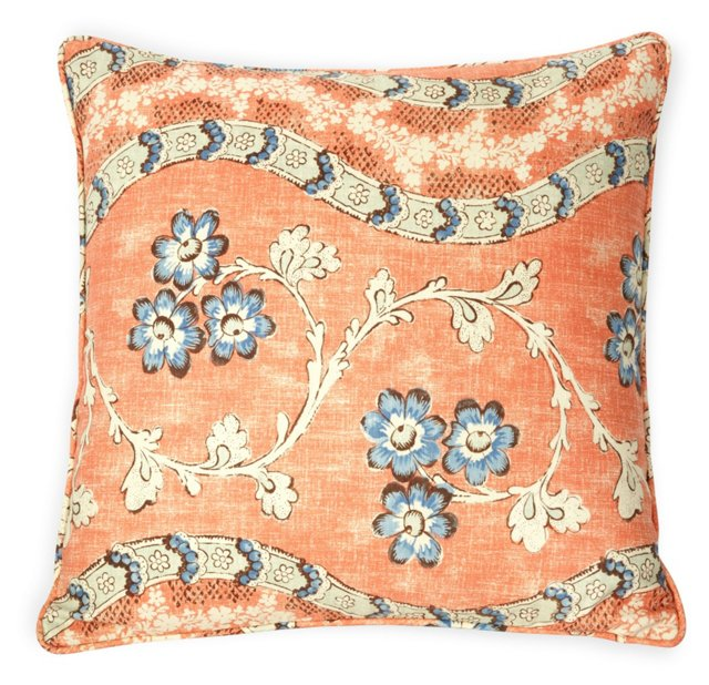 Custom Quadrille Pillow I