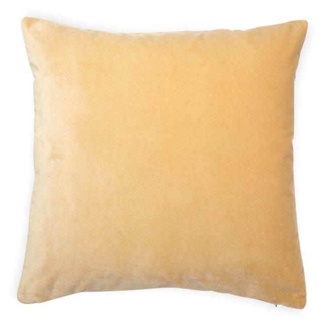 Custom Velvet Pillow, Beige