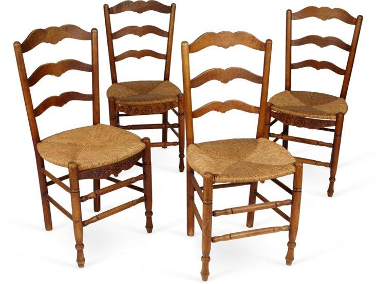 Provençal Ladder-Back Chairs, Set of 5