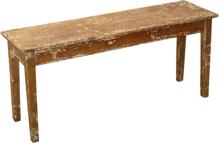 Distressed Narrow Bench
