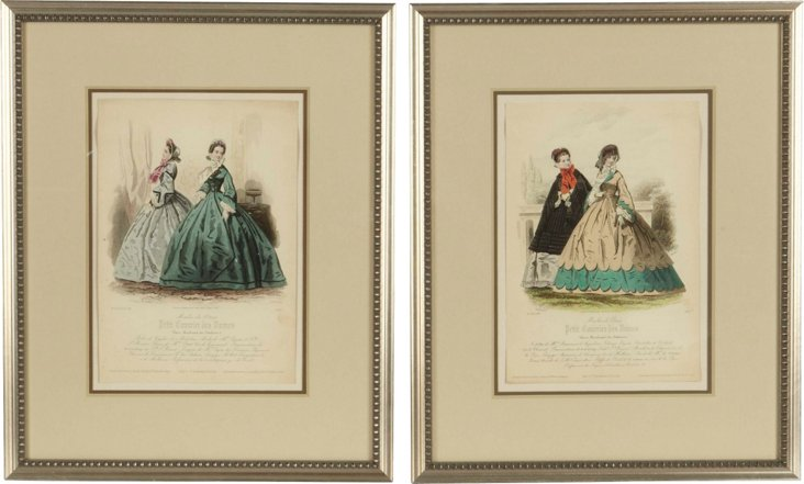 Fashion Prints, Set of 2, II