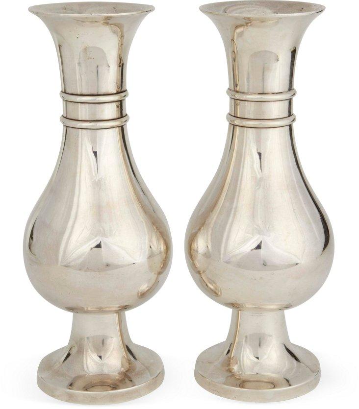 1920s Nun Convent Vases, Pair