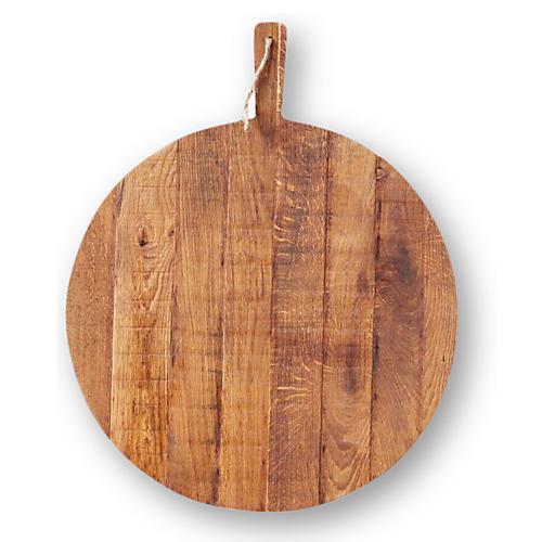 Oak Round Pizza Board, Natural