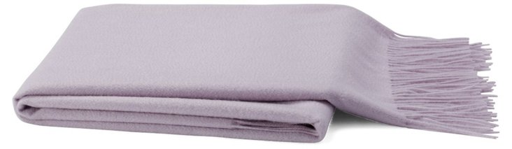 Solid Cashmere-Blend Throw, Lavender
