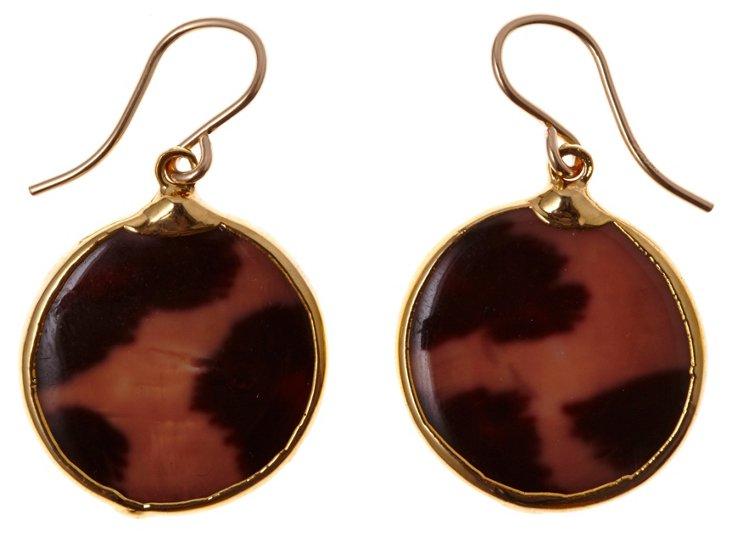 Leopard Shell Earrings