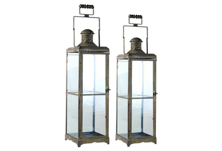 Asst. of 2 Backyard Lanterns, Brown