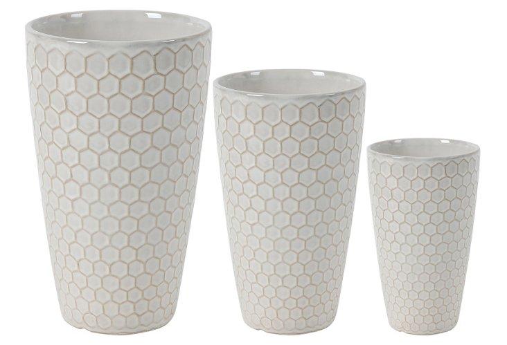 Asst. of 3 Honeycomb Vases